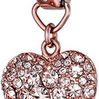Fossil Puffy Heart Charm