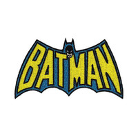 Batman Cape Logo Embroidered Iron-On Patch