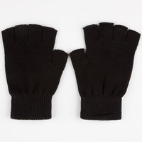 Blue Crown Fingerless Gloves Black One Size For Men 24818510001