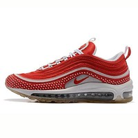 NIKE AIR MAX 97 Fashion Women Men Casual Running Sport Shoes Sneakers Red I