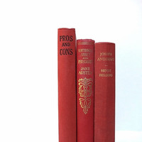 Charming Three Book Bundle / Book Decor / Instant Library / Home Decorating / Library Filler / Jane Austin