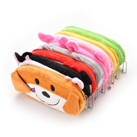 Cartoon Pencil Case Coin Bag Purse Plush Novelty Kids Gift Toys Stationery
