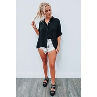 Casually Obsessed Blouse: Black