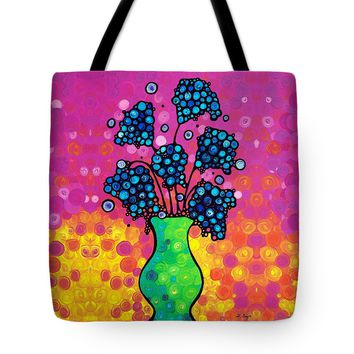 Colorful Flower Bouquet By Sharon Cummings Tote Bag
