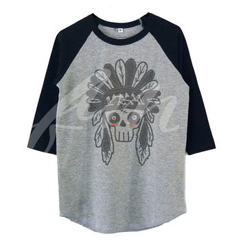 Head skull raglan shirt for kids toddlers boys girls tops Baby clothes **kids clothings