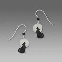 Sienna Sky Earrings - Wolf Howling at the Moon