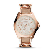 Cecile Multifunction Stainless Steel and Leather Watch – Rose and Bone