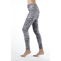 Grey Leopard Ankle Length Leggings