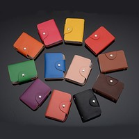 24 Card Slots Card Holder Business Credit Card Bank Card Holder PU Leather Card Wallet