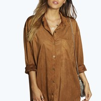 Boutique Elsa Suedette Oversized Shirt