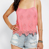 Urban Outfitters - Pins And Needles Lace Cropped Top
