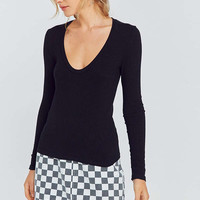 Project Social T Scoop Neck Long Sleeve Top | Urban Outfitters