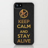Keep Calm - The Hunger Games Poster 02 iPhone Case by Misery | Society6