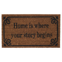 I liked this design on #Fab. Story Begins Doormat