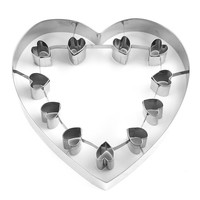 Giant Valentine Cookie Cutter with Heart Cutouts
