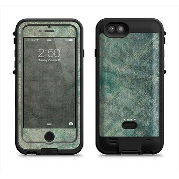 The Grungy Green Painted Fabric  iPhone 6/6s Plus LifeProof Fre POWER Case Skin Kit