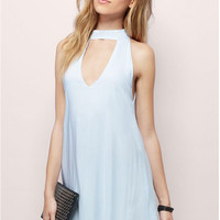 V-Back Front Cut Out Sleeveless Dress