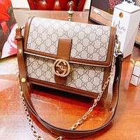 GUCCI Hot Sale Women Leather Shopping Bag Shoulder Bag Crossbody Satchel