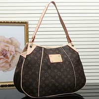 Perfect Louis Vuitton Women Leather Shoulder Bag Satchel Tote Handbag