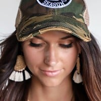 JUDITH MARCH Tis The Season Game Day Camo Hat