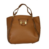 Tom Ford Tan Leather Double Zip Bag