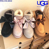 Ugg Fashion Bow-tied Velvet Uggs Are Hot Sellers Of Casual Ladies' Wool Boots Shoes