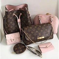 Louis Vuitton LV Popular Women Shopping Leather Metal Chain Crossbody Satchel Shoulder Bag And Purse Wallet
