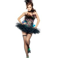 Mystery House Women's Peacock Costume,Multi,Small