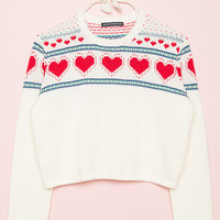 Francesca Hearts Sweater - Sweaters - Clothing