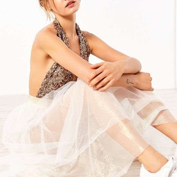 Kimchi Blue Isadora Shimmery Tulle Midi Skirt - Urban Outfitters