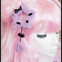 Halloween Fairy Kei Two-Way Fuzzy Star Hair Clip/Brooch