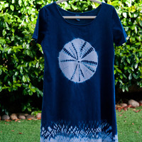 Shibori  A-Line Summer Dress, Center circled - MEDIUM