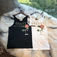 GUCCI Woman The Roses Embroidered Vest