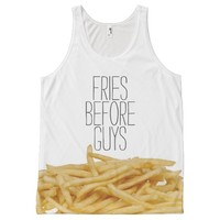 Funny fries before guys hipster humor girly girl All-Over print tank top