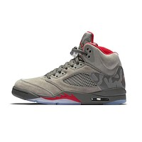 NIKE Air Jordan 5 Retro AJ5 Camouflage Basketball Shoes Breathable Height Increasing Suede Sneaker