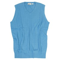 Licensed Golf McIlhenny Dry Goods Mens Cable Knit V-Neck Sweater Vest MM751