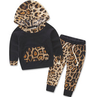 Leopard Baby Girls Clothes Set