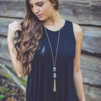 Relaxed Tank Top in Black