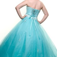 US Fairytailes Ball Gown Formal Prom Strapless Wedding Dress #2586