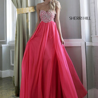 Strapless Sweetheart Sherri Hill Formal Prom Dress 3908