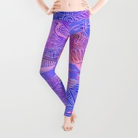 abstract with purple and pink Leggings by Marianna Tankelevich