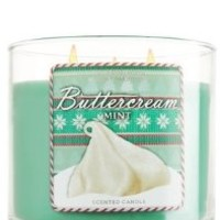1 X Bath and Body Works Buttercream Mint 3 Wick Candle 14.5oz Limited Edition