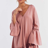 The Fifth Label Ruffle Bell-Sleeve Mini Dress | Urban Outfitters