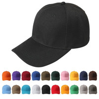 New Plain Fitted Curved Visor Baseball Cap Hat Solid Blank Color Caps Hats = 1958293828