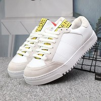 Off White Woman Men Fashion Old Skool Flats Shoes