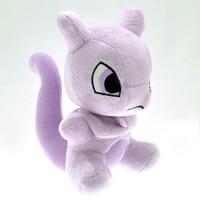 17cm Q Version Pokemon Mewtwo Plush Toy Cute Mewtwo Plush Pocket Monster Soft Stuffed Animals Toys Doll for Kids Toys Gift