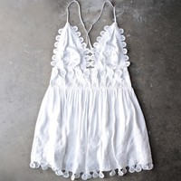 honey punch - summer lace mini dress - coconut