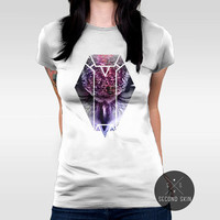 We Owl The Nght / Owl Screen printed Women's T-shirt. Available in XS,S,M,L,XL sizes.