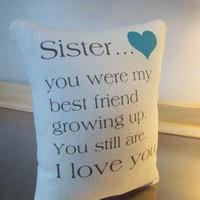 Sister gift pillow best sister gifts throw pillow cushion