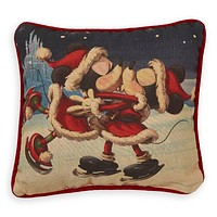 Disney Parks Holiday Cheer Mickey and Minnie Kissing Pillow New with Tag